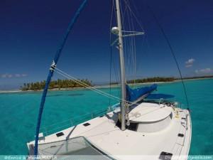 Il nostro catamarano in Polinesia